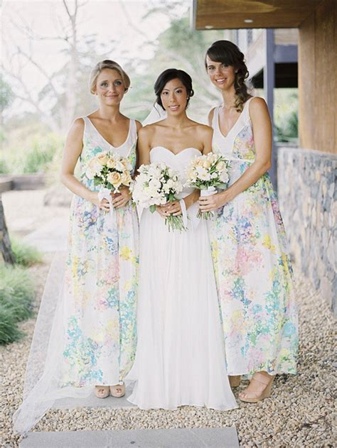 flower pattern bridesmaid dresses get the look floral print bridesmaid dresses southbound