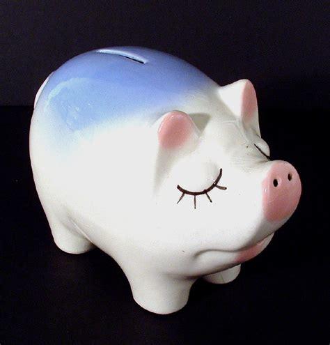 pig piggy bank vintage snooty ceramic pig piggy bank with usa imprint pigs