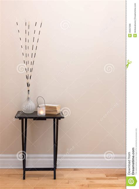 Home Decor Table Accents by Home Decor Table With Decorations Royalty Free