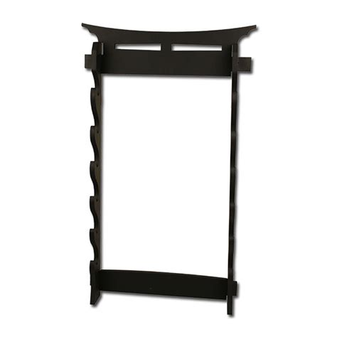 Wooden Wall Stand 6 Swords Wooden Wall Mount Sword Display Stand