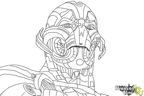 coloring page ultron how to draw ultron from avengers age of ultron drawingnow