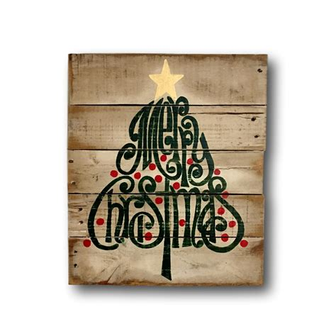rustic wood christmas sign merry christmas decoration