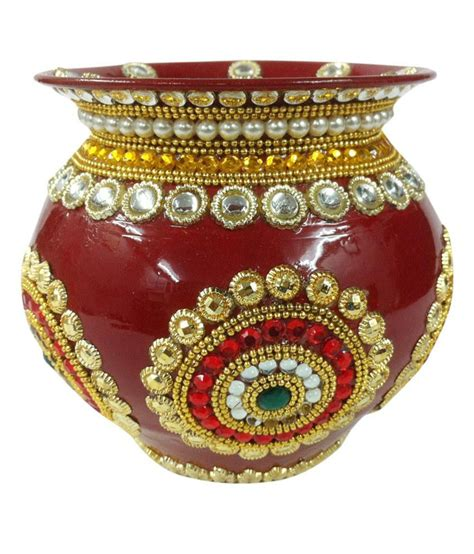 Suman Creations Rajasthani Decorated Copper Suman Creations Rajasthani Decorated Copper Kalash