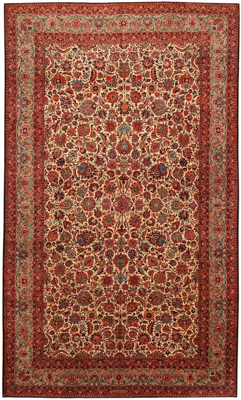 Persin Rugs by Antique Kashan Rug 43599 Nazmiyal Collection