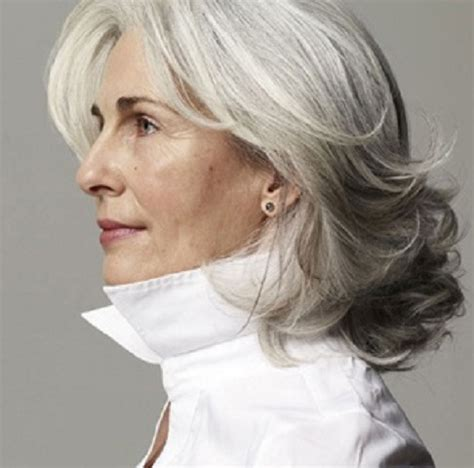 medium haircuts for gray hair easy and fashionable hairstyles for grey hair