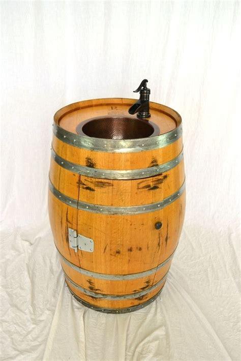 Wine Barrel Sink Vanity by Custom Wine Barrel Sink Bath Vanity W Copper Sink And