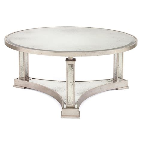 Silver Coffee Tables Tully Regency Silver Antique Mirror Coffee Table Kathy Kuo Home
