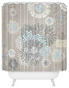 iveta abolina blue shower curtain contemporary