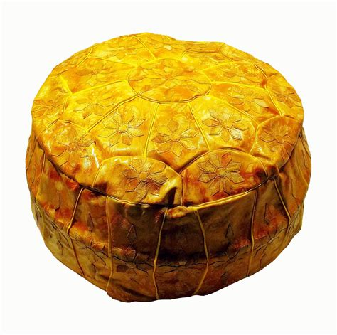 egypt ottoman handcrafted egyptian moroccan genuine leather ottoman pouf