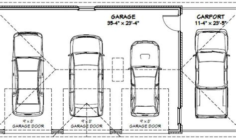 Standard Car Garage Size by Top 9 Photos Ideas For Standard 3 Car Garage Dimensions