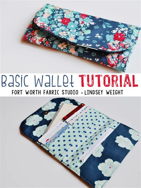 free pattern wallet fort worth fabric studio basic wallet tutorial
