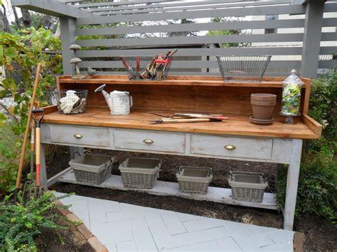 outdoor garden work bench 25 best ideas about garden work benches on pinterest potting station garden works