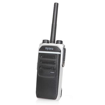 rugged portable radio hytera pd602v 1 rugged digital vhf portable radio 136 174 mhz