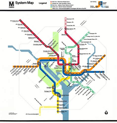dc subway map map of dc subway system my
