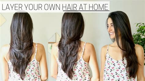 hair styles cut hair in layers and make curls or flicks how i cut layer my hair at home 187 diy long layers