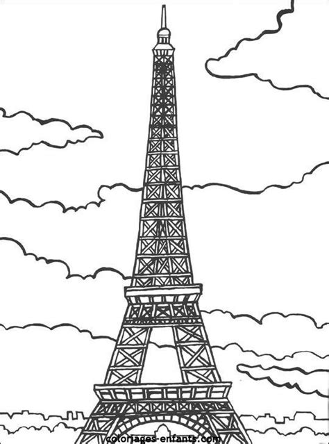 coloring book pages paris french colouring pages many french cities especially