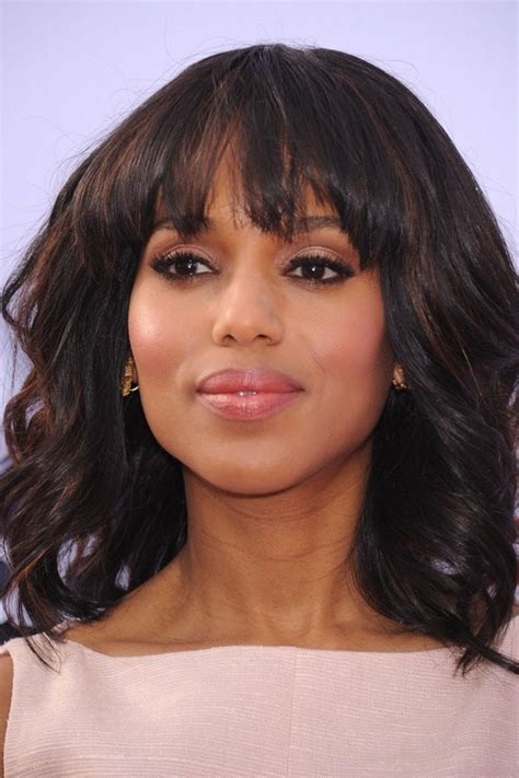 curly hair soft wedge layered with bangs 40 cute styles featuring curly hair with bangs