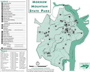 morrow map morrow mountain state park maplets