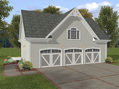 3 car garage plan 007g 0006 garage plans and garage blue prints from the garage plan shop