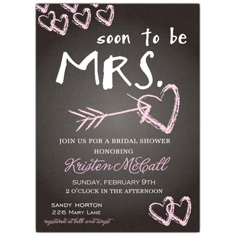 Wedding Shower Invitations chalkboard bridal shower invitations paperstyle