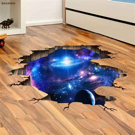shijuehezi universe way 3d wall sticker home decor