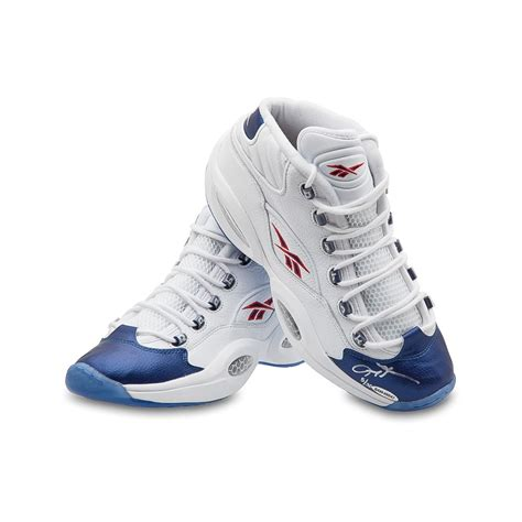 iversons shoes allen iverson autographed reebok question mid shoes with