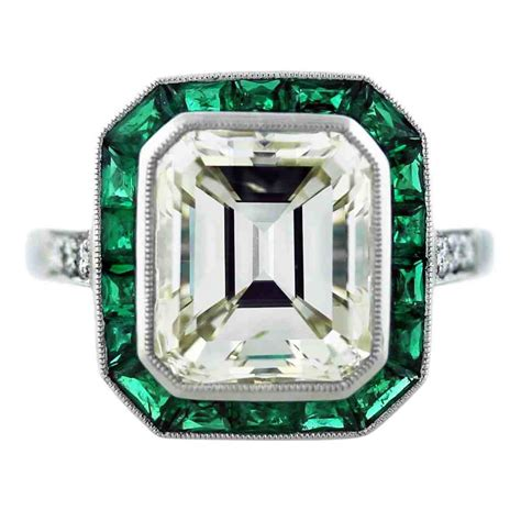 emerald cut ruby engagement rings wedding and bridal