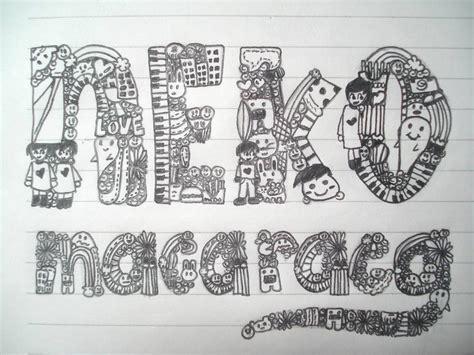 cool doodle names the name doodle by kairiyunaneko on deviantart