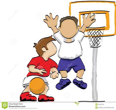 basketball spielen basketball stock vector illustration of