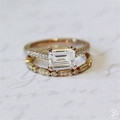 best 25 emerald cut engagement rings ideas on