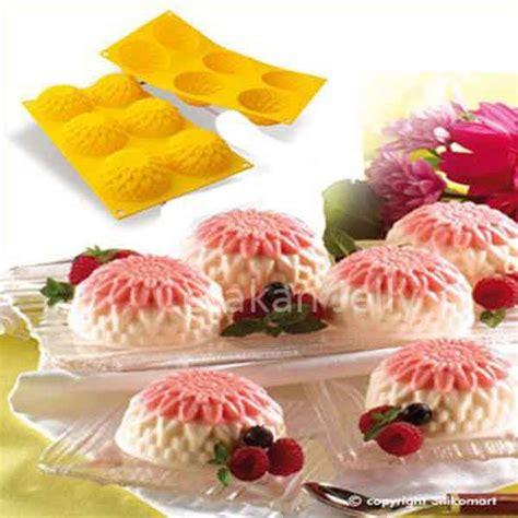 Cetakan Silikon Puding Kue Gift cetakan silikon puding kue chrysant 6 cavity cetakan jelly cetakan jelly