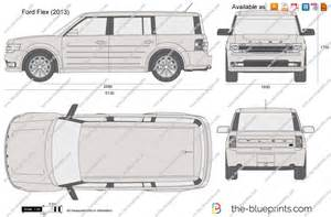 Ford Flex Dimensions The Blueprints Vector Drawing Ford Flex