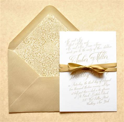Gold Wedding Invitations gold wedding invitations gold calligraphy wedding