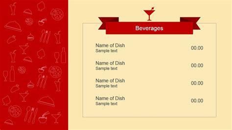 menu presentation template flat restaurant menu powerpoint template slidemodel