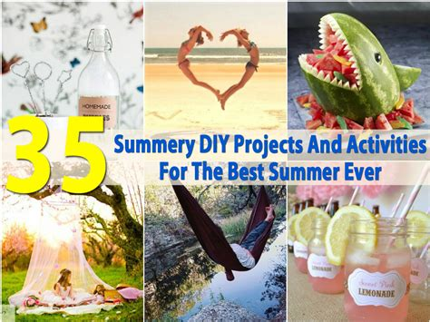 15 summer craft and diy ideas for the home setting for 4 35 summery diy projects and activities for the best summer
