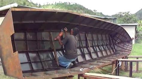 que boten bote de metal para rio danlicityhn youtube