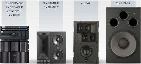 synthesis  array ml premier home theater speaker system