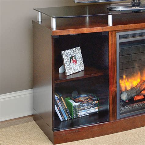Venture Fireplace by Venture Electric Fireplace Media Console In Mahogany