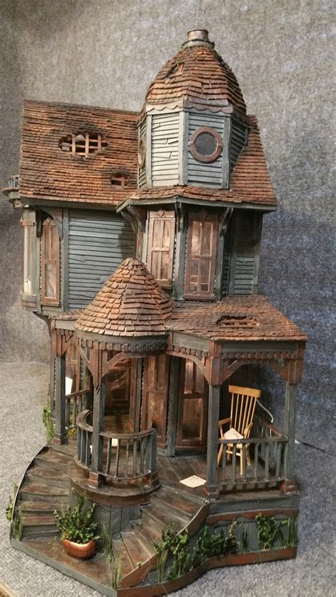 Miniature Of House greggs miniature imaginations haunted mansion made out of