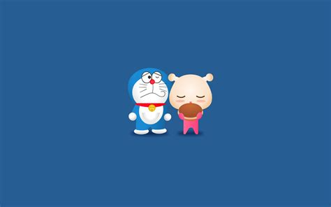 Doraemon Minimalism, HD Cartoons, 4k Wallpapers, Images