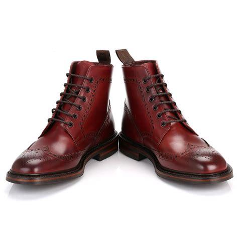 loake mens boots loake mens ankle boots burgundy burford dainite calf