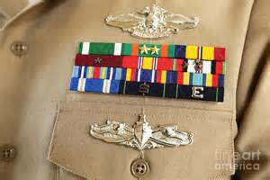 Military Decorations Close Up View Of Military Decorations Photograph By