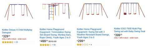 kettler swing set kettler swing sets competitive prices from these 3