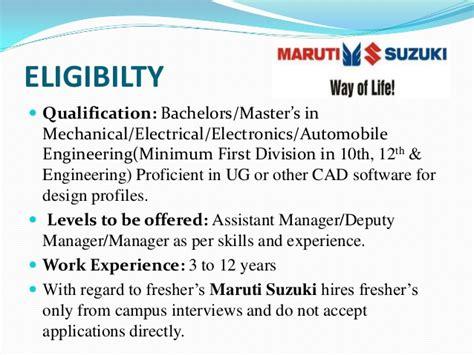 In Maruti For Mba Fresher by Maruti Suzuki India Ltd