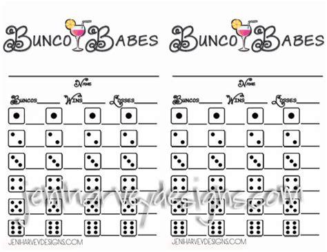 Bunco Score Sheets Template Free by Bunco Bunco Score Sheet By Jeniharveydesigns On Etsy