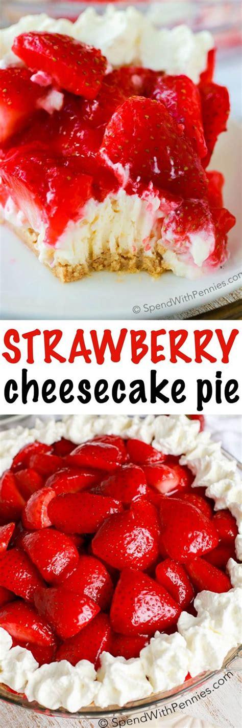 Cheesecake Cheese Cake Strawberry Pie Halal strawberry cheesecake pie no bake