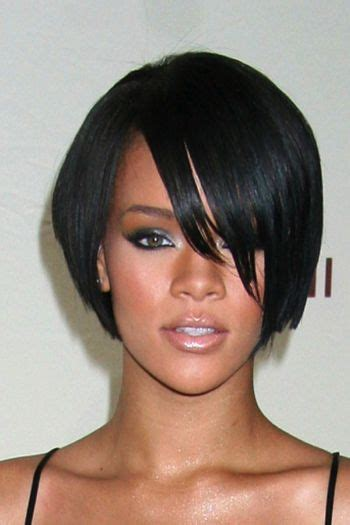 blk short hair in fromt long bk short bob hairstyles front back jaw length layered bob