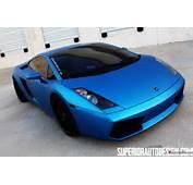 Matte Blue Wrapped Lamborghini Gallardo By Superior Auto Design 14