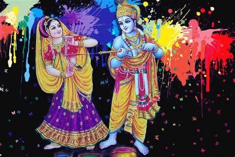 happy holi radha krsihna hd images wallpapers holi  lord krishna   pics