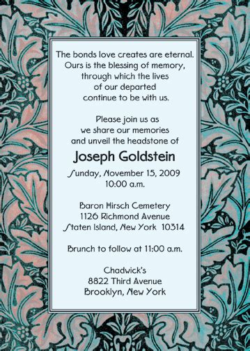 Tombstone Unveiling Invitation Wording Cool Ebookzdb Com Tombstone Unveiling Invitation Templates